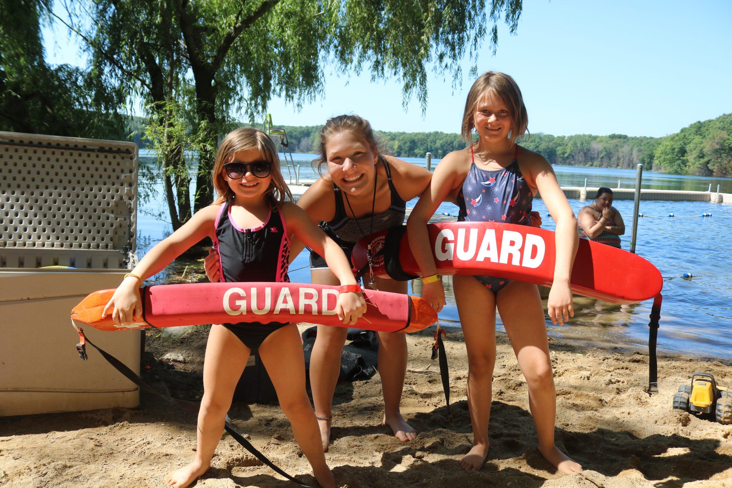Pretty Lake Camp has lifeguards and future lifeguards